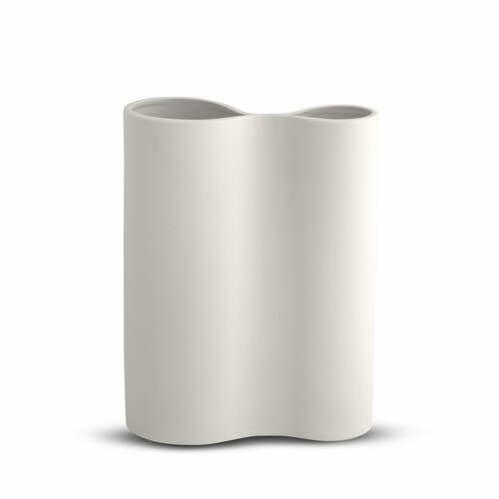 Smooth Infinity Vase Medium - Snow