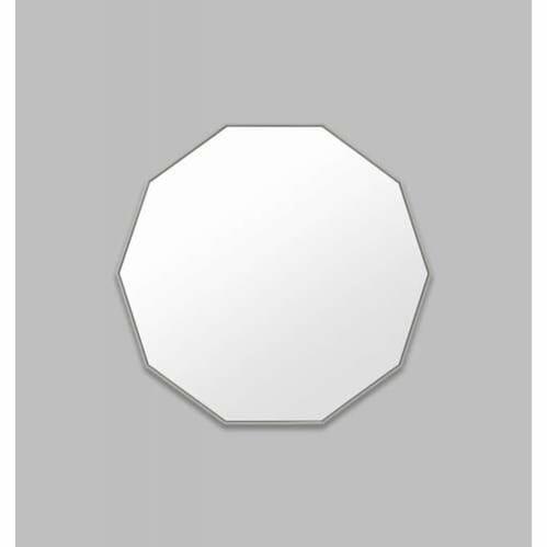 Flynn Geo Mirror - Mid Grey