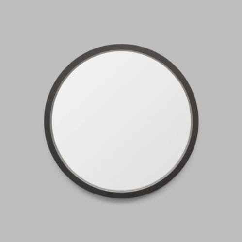 Adel Round Mirror - Black