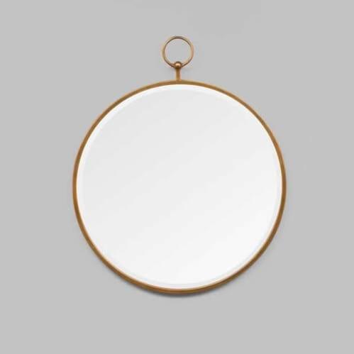 Antique Fob Mirror - Brass