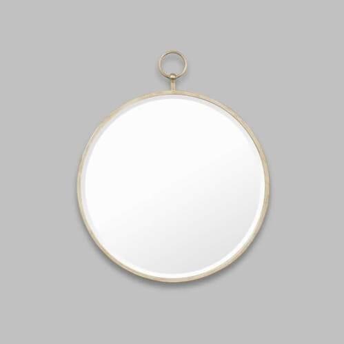 Antique Fob Mirror - Silver