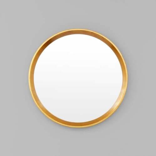 Austen Round Mirror - Brass