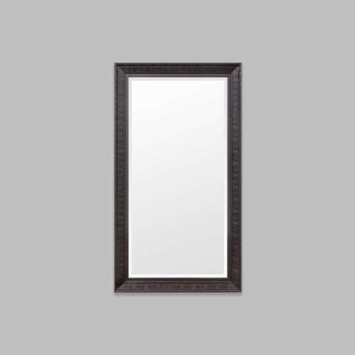 Chinoise Leaner Mirror - Hand Painted Black