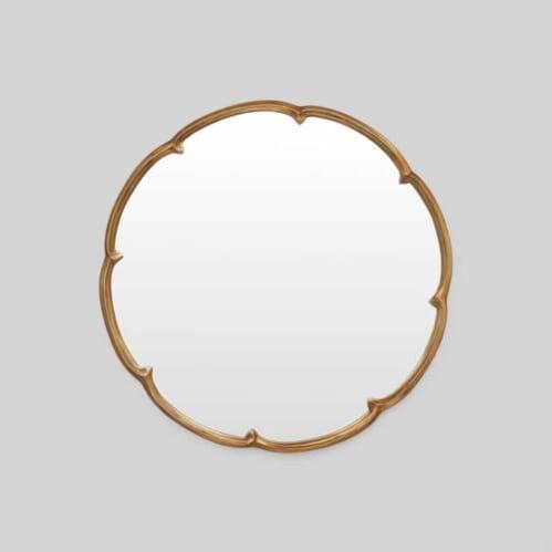French Maid Round Mirror - Bronze