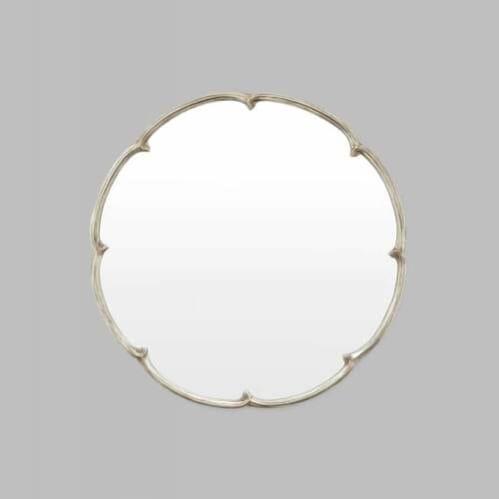 French Maid Round Mirror - Silver