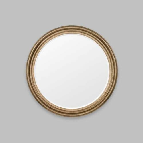 Iona Round Mirror - Antique Silver
