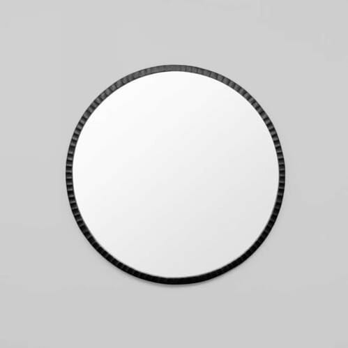Solstice Round Mirror - Black