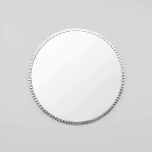Solstice Round Mirror - Silver