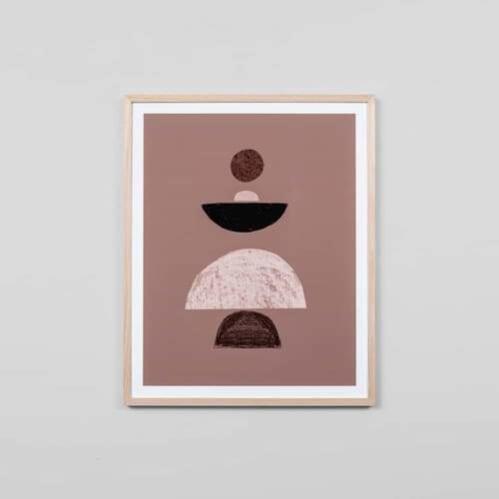 Balance Clay 2 Small Framed Print