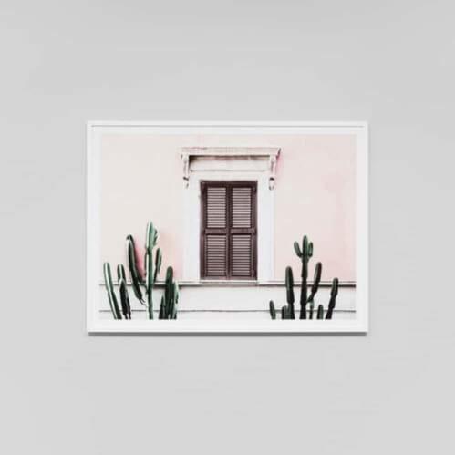 Blush Villa Framed Print