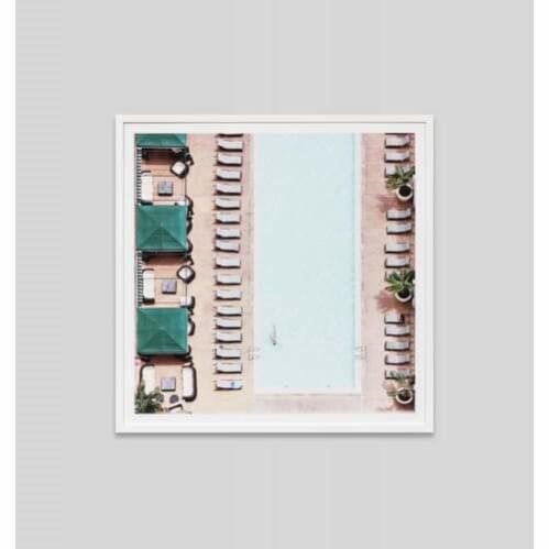 Morning Laps Framed Print