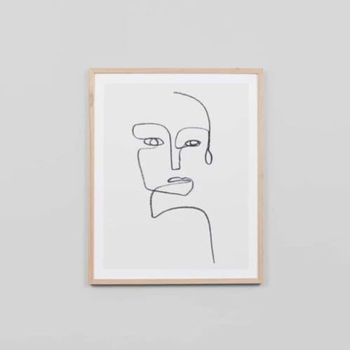 Linear Portrait 1 Framed Print