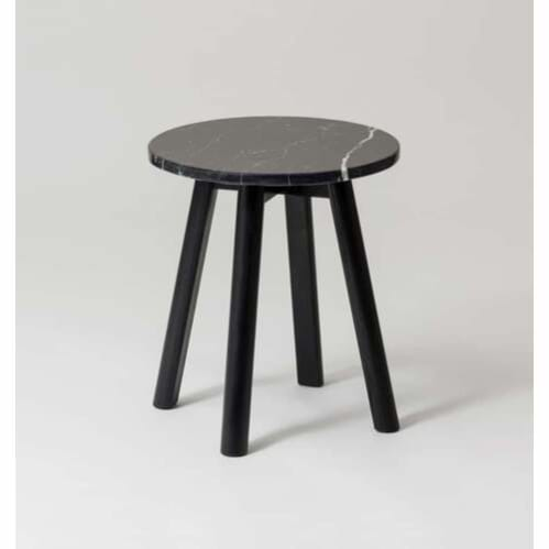 Enkel Marble Side Table - Black