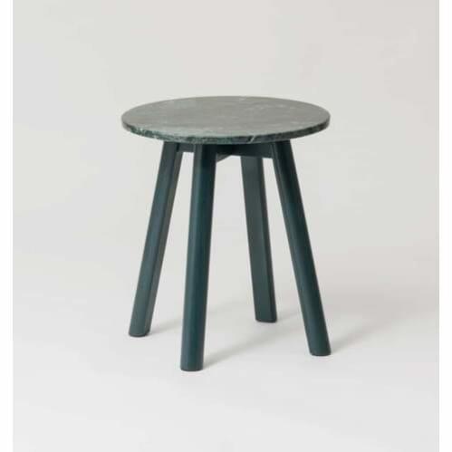 Enkel Marble Side Table - Dark Green