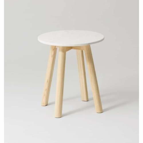Enkel Marble Side Table - Natural