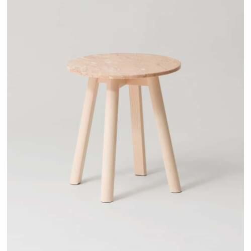Enkel Marble Side Table - Powder