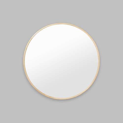 Bella Round Mirror - Brass