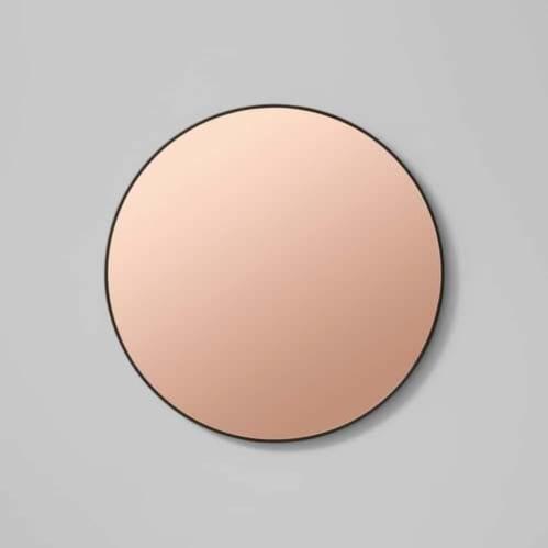 Flynn Round Mirror - Black / Dusk