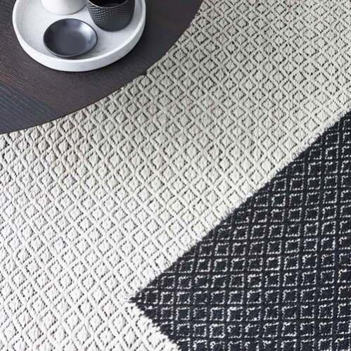 Braid Pastille Rug - Ivory / Black