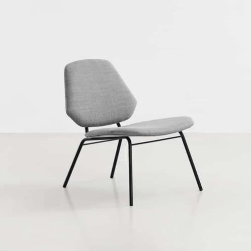 Lean Lounge Chair - Grey