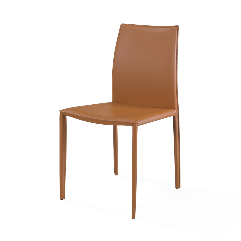 Engage Dining Chair   Tan Leather   Unico