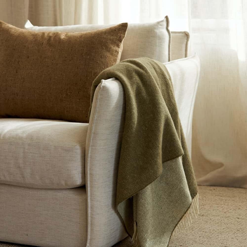 Wool Throw - Matcha