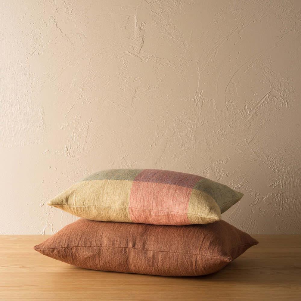 Linen Cushion - Brick