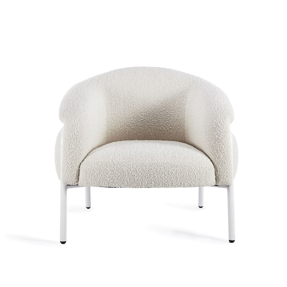 Belly Armchair - Maya Cream Boucle
