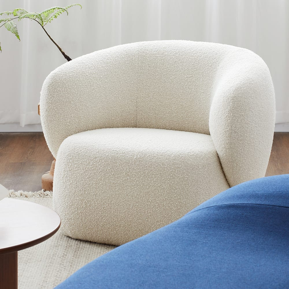 Swell Armchair - Maya Cream Boucle