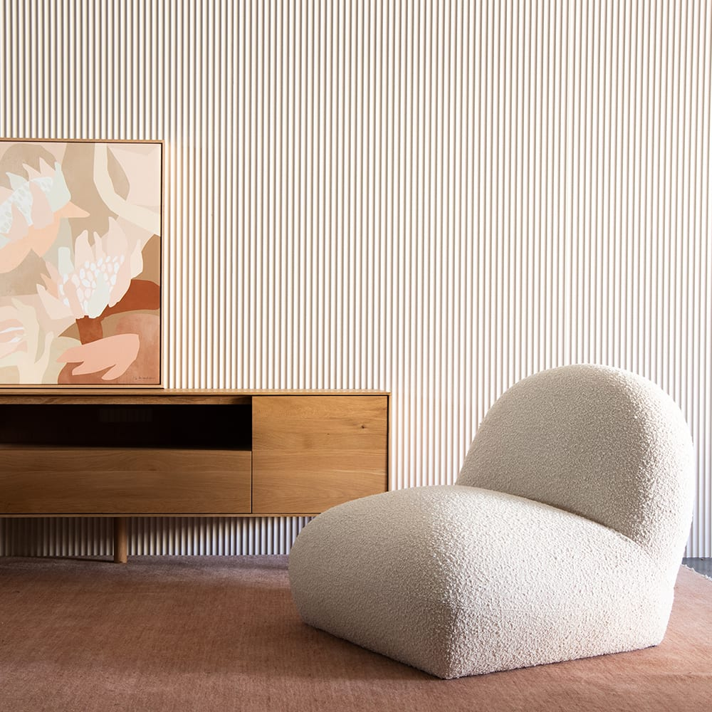 Tangyuan Lounge Chair - Maya Cream Boucle