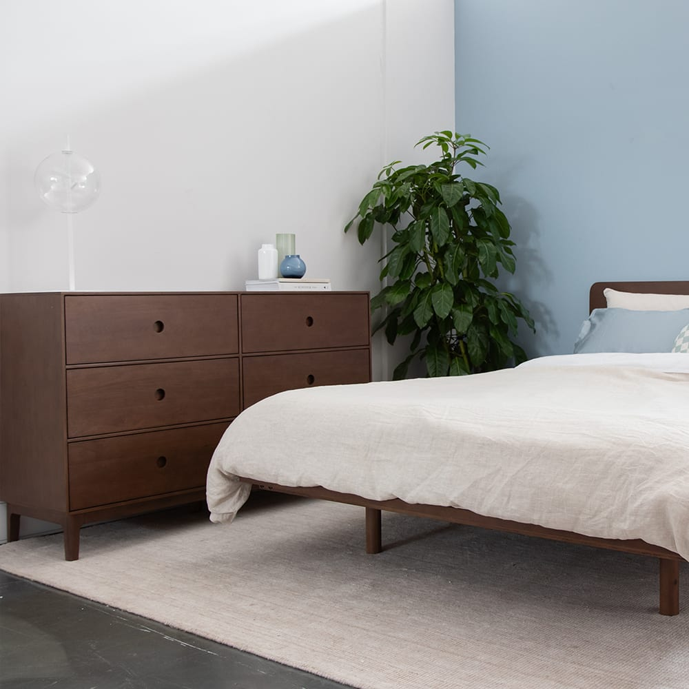 Ambience 6 Drawer Chest - Walnut