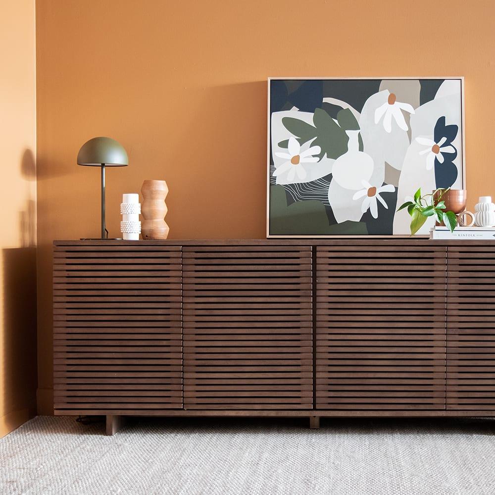 Linear Sideboard 210cm - Walnut
