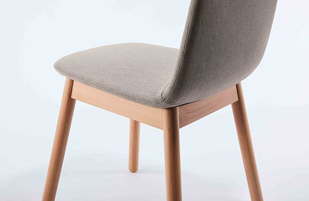 Bunny Dining Chair - Beige / Beech - Crafted With Care