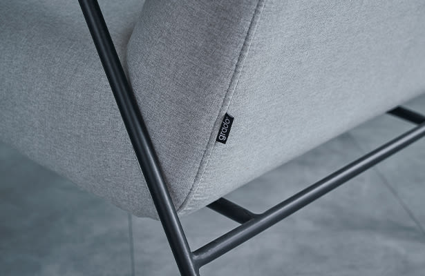 Puffy Lounge Chair With Arm - Light Grey - A World First