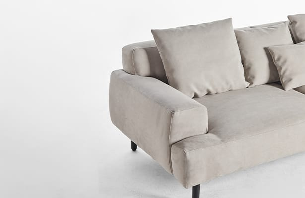 Island 2 Seater Sofa - Light Grey - A Stunning Contrast