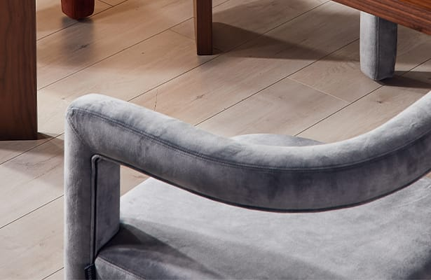 Mate Lounge Chair - Grey Velvet - Thinking in Textures