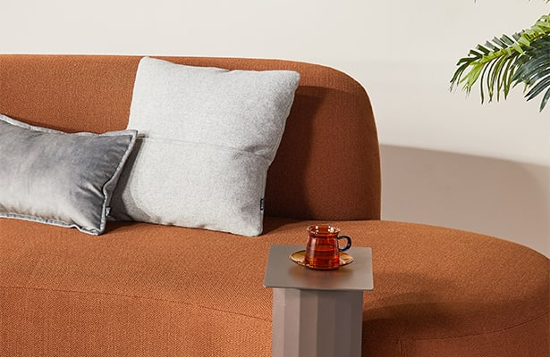 Swell Chaise Sofa - Terracotta - Historical Ties
