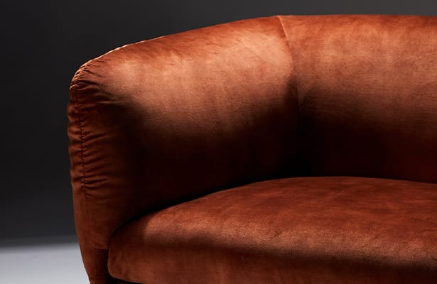 Tulip Lounge Chair - Red Velvet - Inspired By Nature