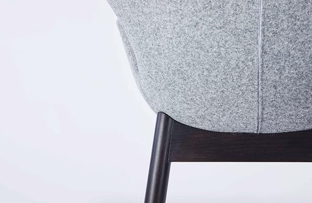 Wings Dining Chair - Beige / Black - A Unique Shape