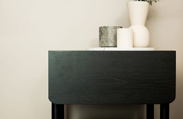 Surround Rattan Bedside Table - Black - Natural Perfection