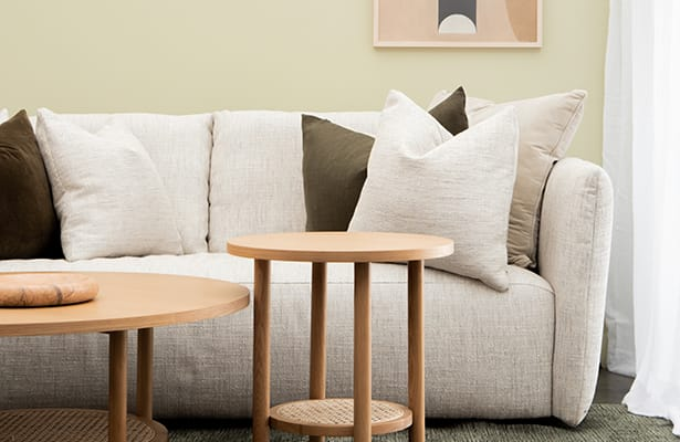 Radial Rattan Side Table - Oak - A Subtle Expression