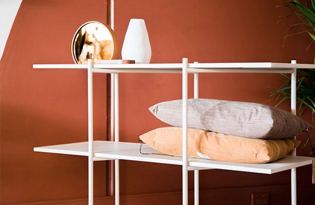 Cross Shelving Unit Medium - Warm Beige - Compact Storage