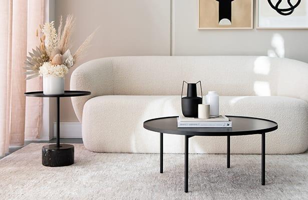 Calibre Side Table - Black - A Sleek Upper