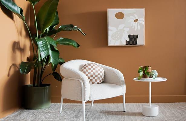 Calibre Side Table - White - A Sleek Upper