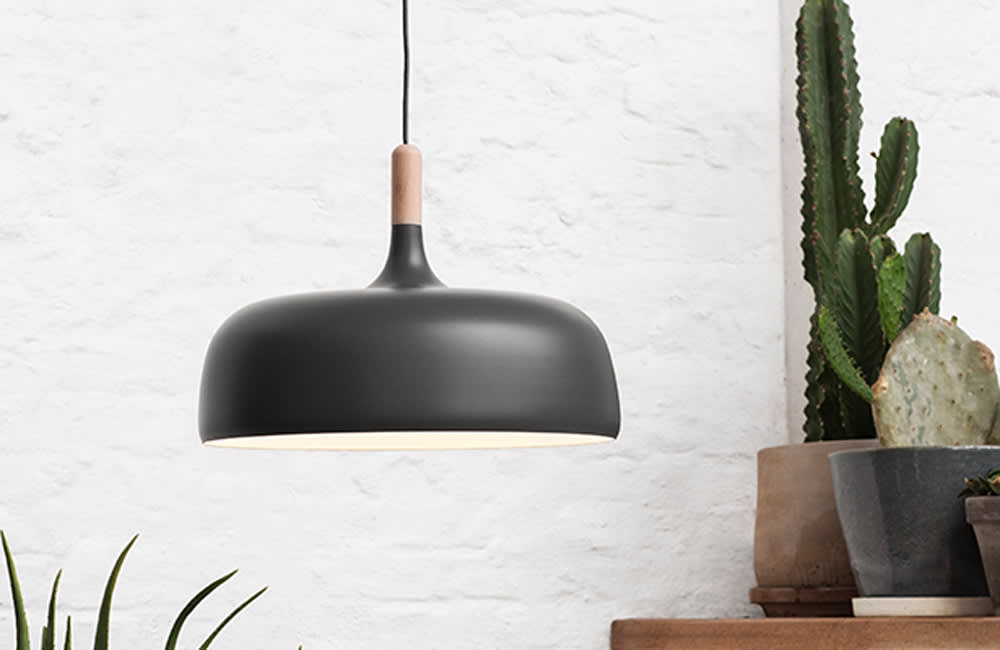 Acorn Pendant Light - Grey - <p>Streamlined and Sophisticated</p>