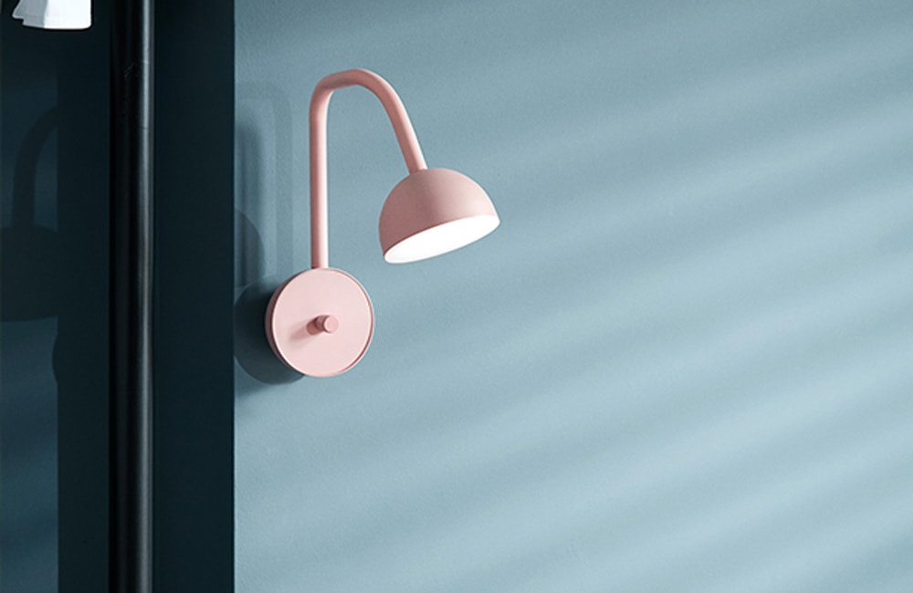 Blush Wall Light - Pink - <p>Carefully Crafted</p>