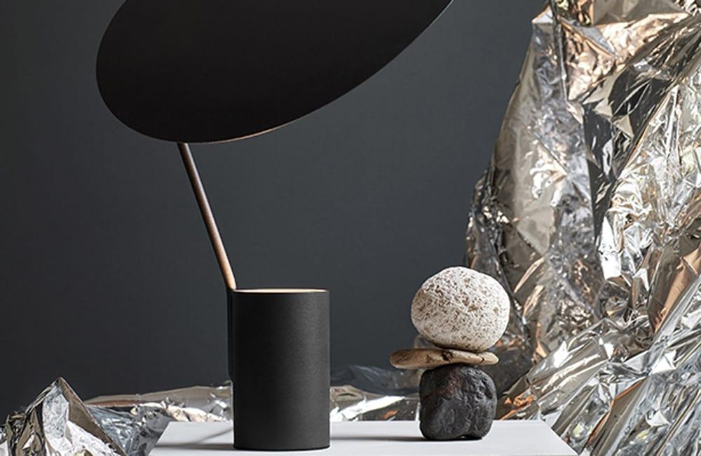 Ombre Table Lamp - Black - <p>Key Contrast</p>