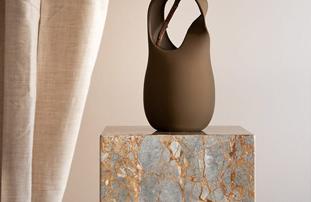 Stage Marble Plinth - Earth Marble - One of a Kind