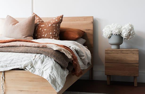 Harmony Double Bed II - Oak - Supreme Comfort