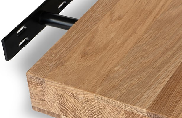 Hold Wall Shelf 140cm - Oak - Stable and Secure